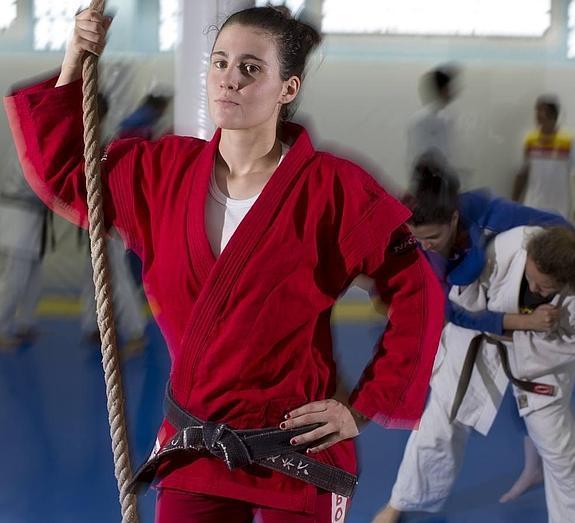 Yaiza Jiménez en el Campeonato del Mundo Absoluto de Lucha Sambo
