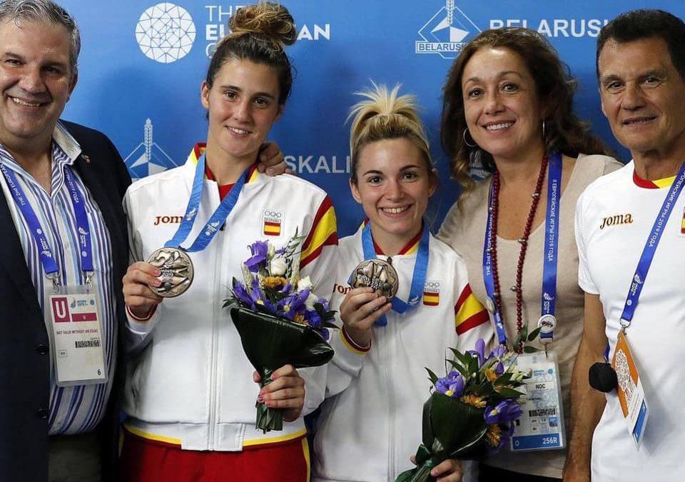 YAIZA JIMÉNEZ e IRENE DÍAZ medallas de bronce